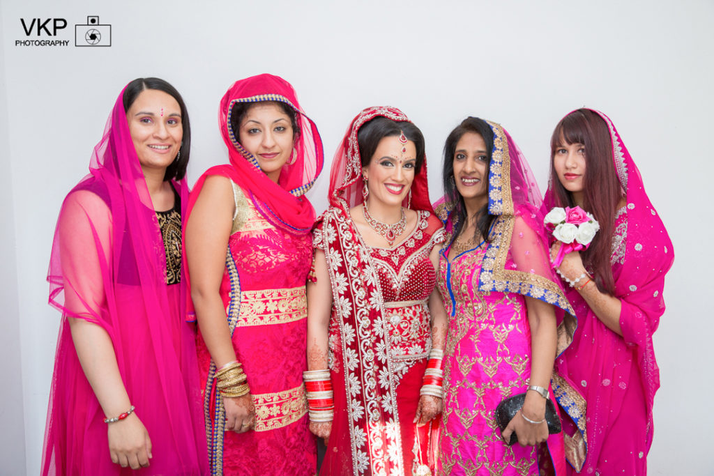 indian bride bridesmaids