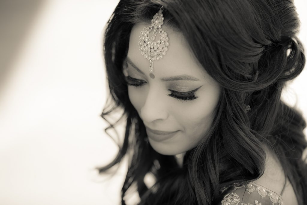 Black and White Asian Bride