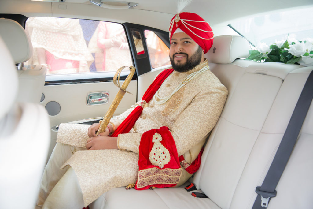 indian groom wedding car
