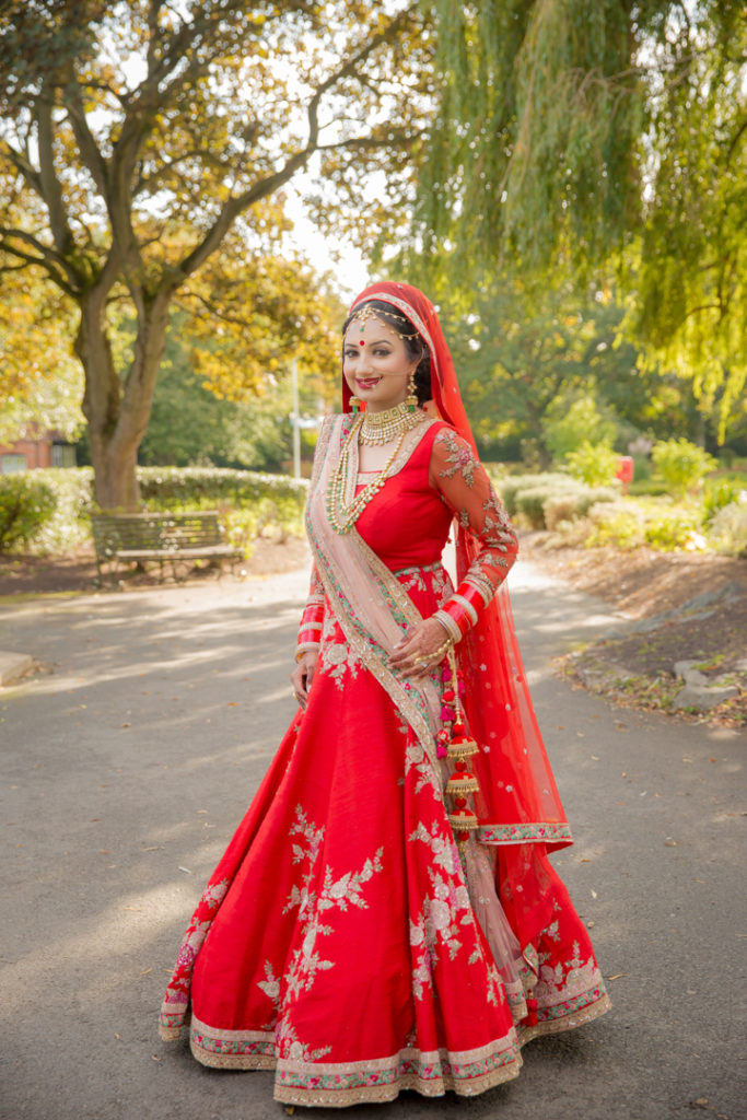indian bride park photography