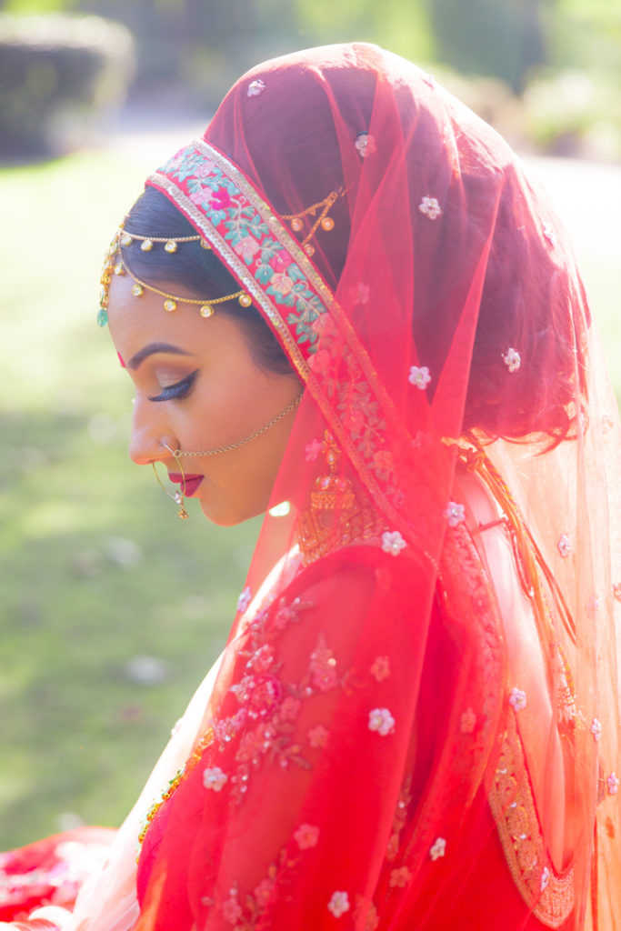 Indian bride pose park