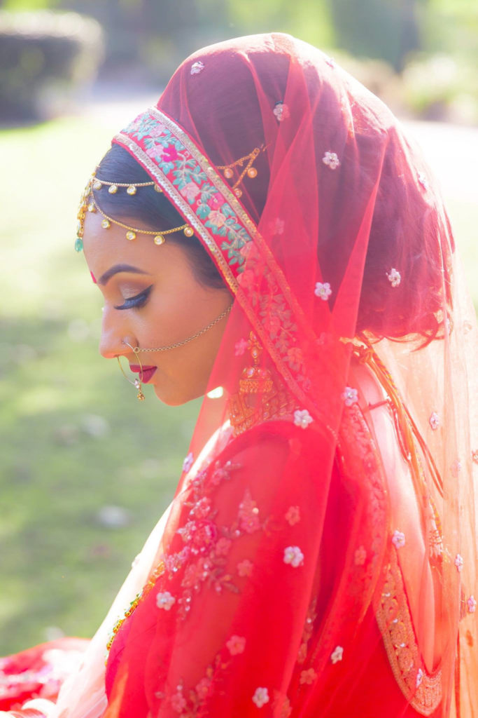 indian bride park pose lighting sunlight pose soft