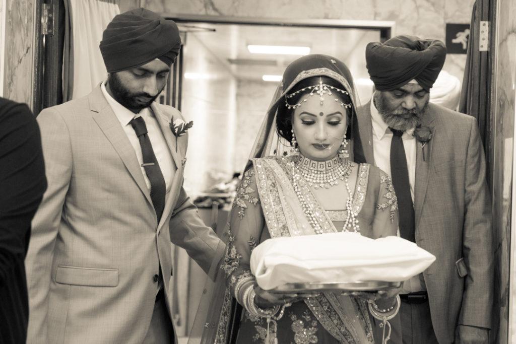 indian wedding temple bride entrance