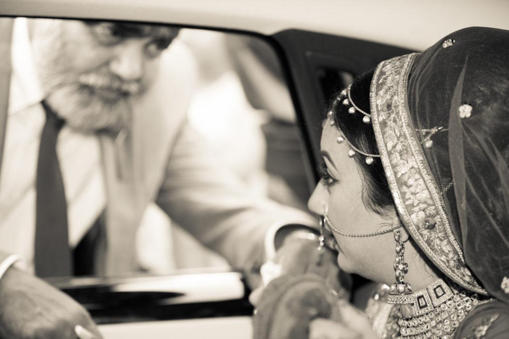 indian wedding doli bride leaving home