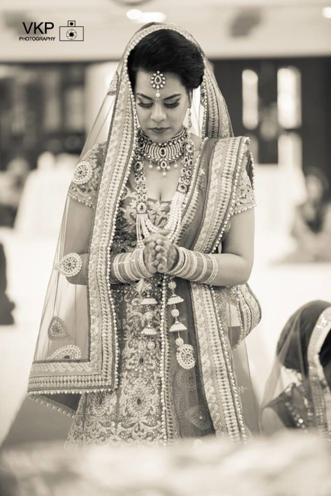 Indian bride pray