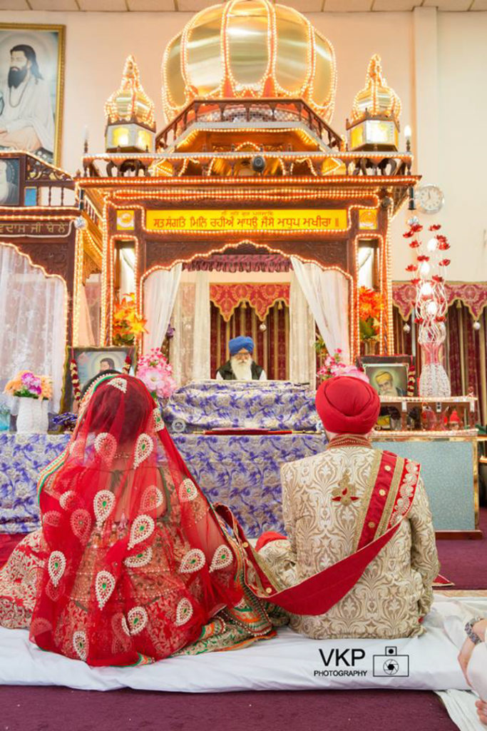 sikh wedding bride groom temple