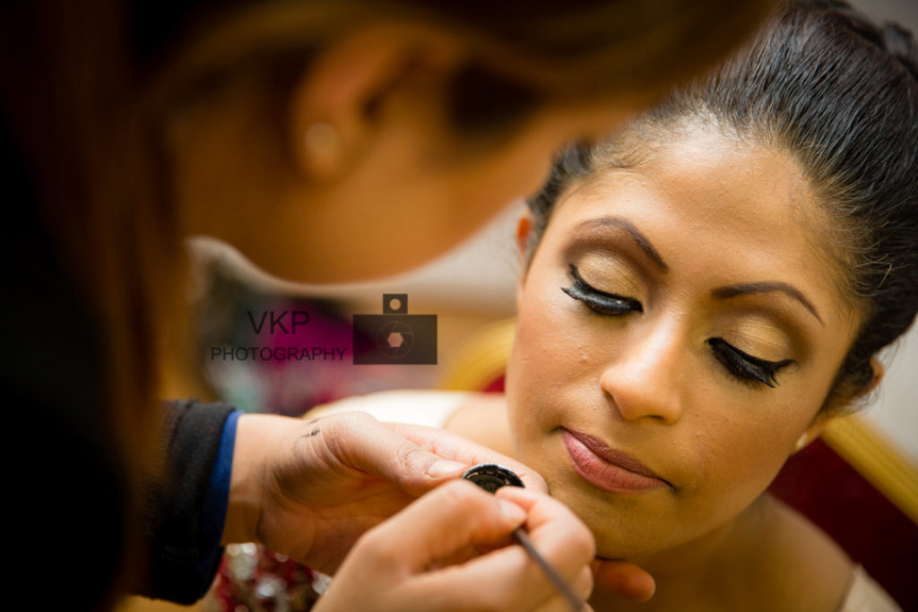indian wedding bride makeup photography