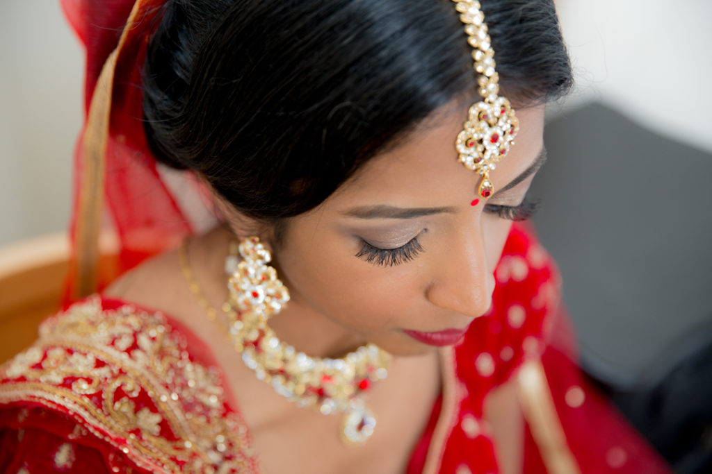 indian bride wedding portrait