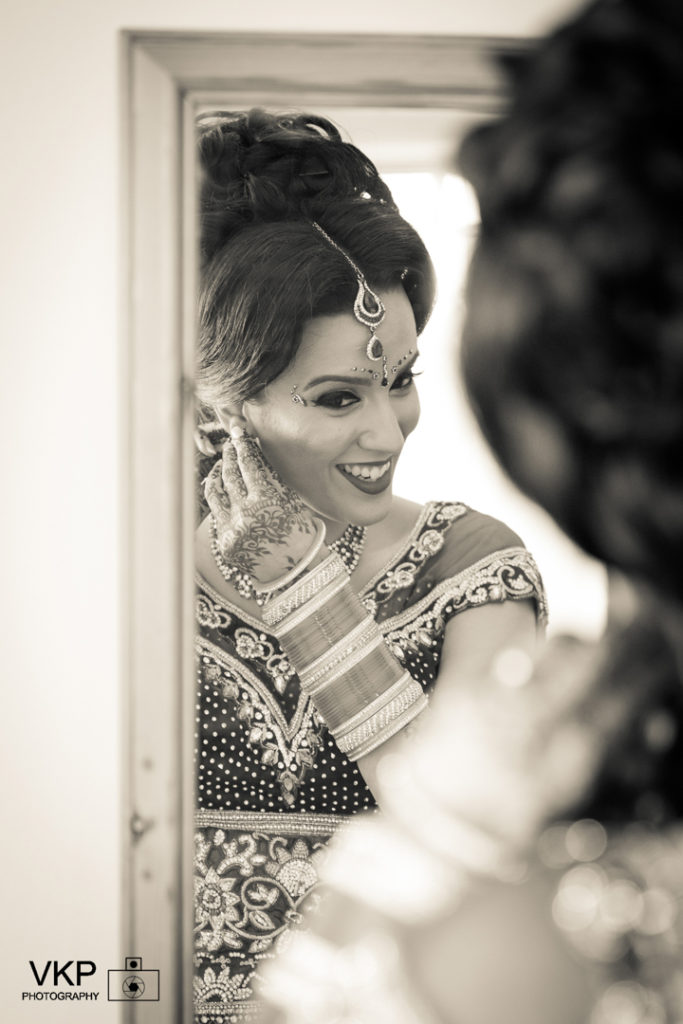 indina bride morning getting ready